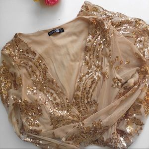 Boohoo Low V Sequin Party Dress Size 8